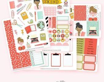 PLANNER GIRL Planner Sticker Set | Fits ECLP Vertical or Happy Planner