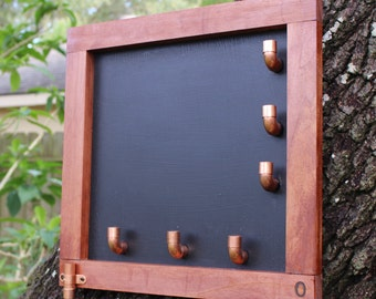 Magnetic Chalk Message Board with Hooks