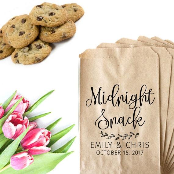 Wedding Favor BagMidnight Snack Bag StampWedding Treat Bags ...