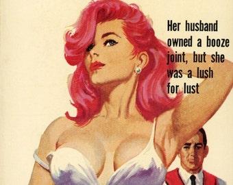 pulp art print  Bar Broad  — vintage book cover repro