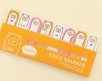 Alpaca/Llama/Sheep Sticky Notes / Feeling Stick Marker / Cute Sticky Notes / Kawaii Sticky Notes / Post-It / Cute Animal Sticky Notes Tabs