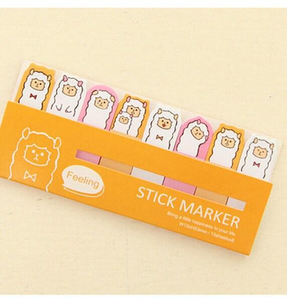 Alpaca/Llama/Sheep Sticky Notes / Feeling Stick Marker / Cute