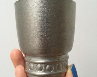 50% OFF SALE !!!!! Swedish Vintage Handmade tin cup // KTS Koppar & Tennsmide // Made in Sweden // Vintage home decor // 1960s // Tin beaker