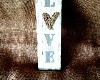 LOVE (Plaster) sign