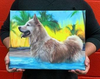 Custom Pet Portrait - Canvas Print