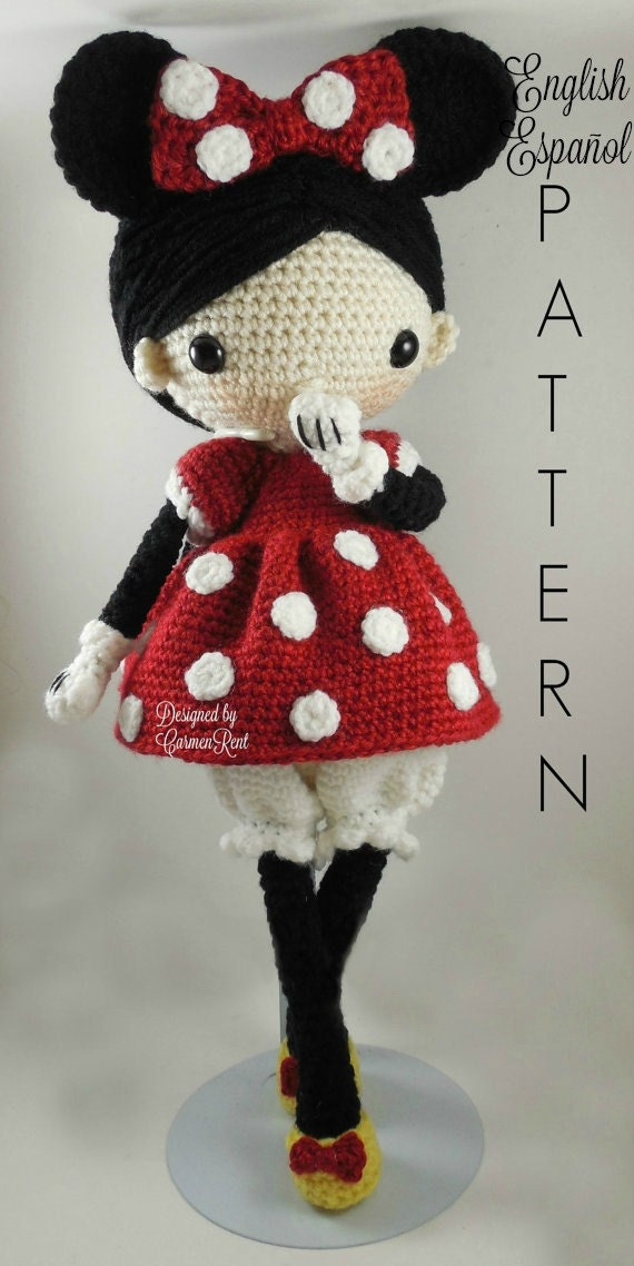 Patron Amigurumi Mini Mouse : Minnie Amigurumi Doll Crochet Pattern PDF