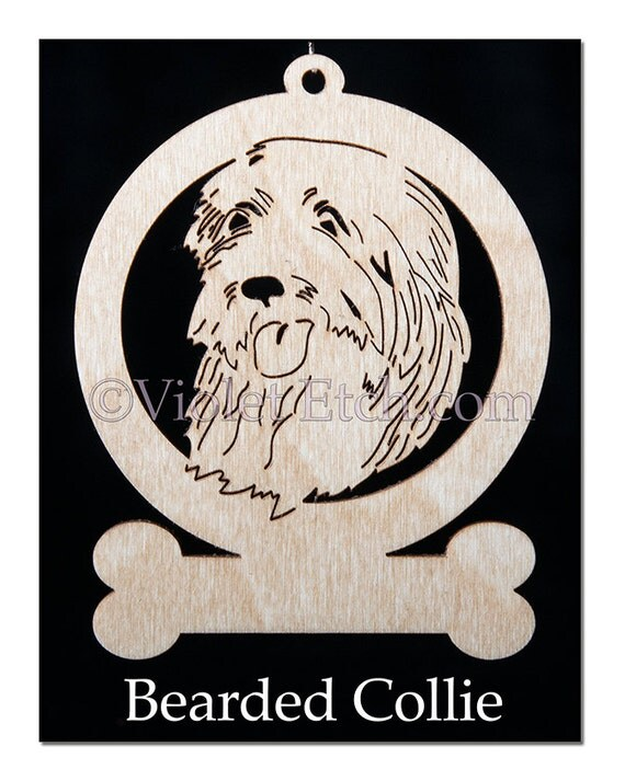 Bearded Collie Ornament-Bearded Collie Gift-Free Personalization