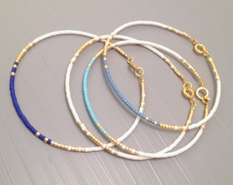 Everyday bracelet tiny gold bracelet gold bead bracelet Every day Jewelry