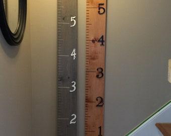 Wooden Growth Chart Ruler