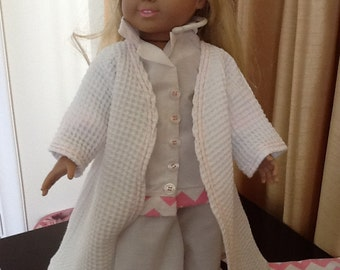 """American Girl/ 18"""" doll robe,pajamas and slippers"""