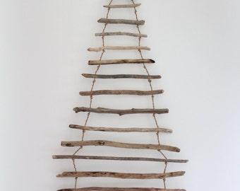 Hanging Driftwood Christmas Tree, Driftwood Christmas Tree, Wooden Christmas Tree, Christmas Tree, Driftwood Art, Wall Art