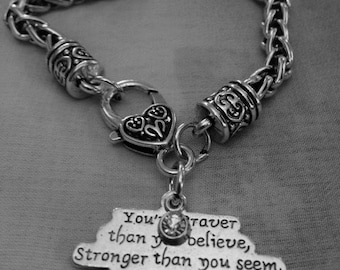 Braver Than You Believe Charm Bracelet