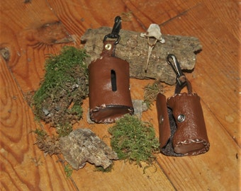 Leather Coin purse/Porte-pièces Cuir - LARP/SteamPunk