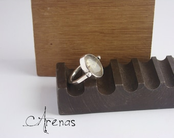 Ring Rutile Quartz Ring - Sterlin Silver - Silver Ring Gemstone - Gift for Her - Simple Ring