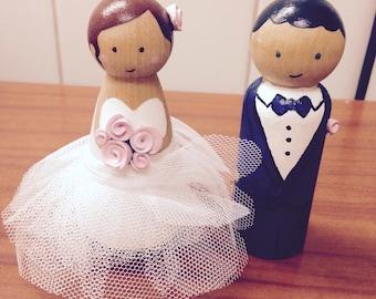 Personalized wedding cake figurines