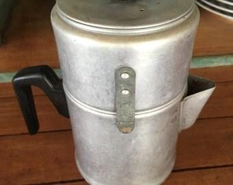 Percolator, Vintage Coffee Pot, Farmhouse Kitchen