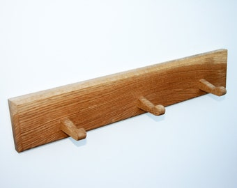 Handmade Solid Oak Coat Hooks / Peg Boards - Different Sizes Available