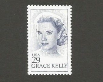 10 Grace Kelly Vintage Postage Stamps, 29 Cents, Unused # 2749