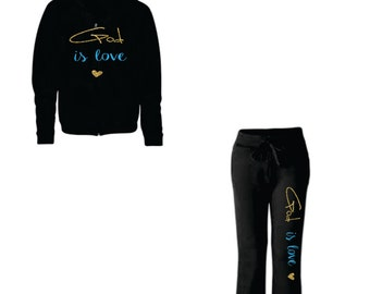 God is Love Sweatshirt and Sweatpant Set