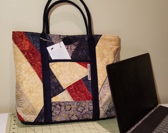 Tote Bag Summer Navy & Red