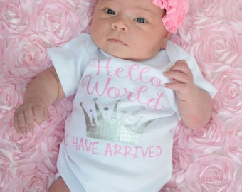 Newborn girl coming home outfit -  newborn girl princess - Baby shower gifts - baby girl take home outfit - newborn photo prop