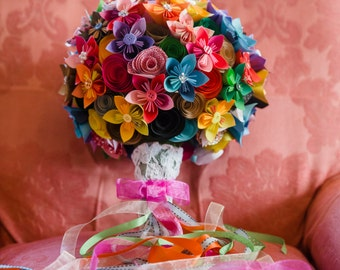 Colorful Paper Bridal Bouquets - Large Bridal Bouquet