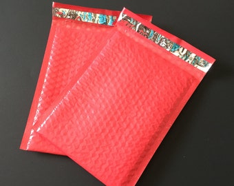 20 6x9 RED Bubble Mailers Size 0  Padded Self Sealing Shipping Envelopes  Christmas