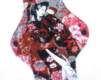 "Pink Geisha Cloth Pad -- Customizable 8"", 10"", 12"""