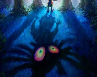 Legend of Zelda Majora's Mask Skull Kid - Poster (18 x 24 or 24 x 36)