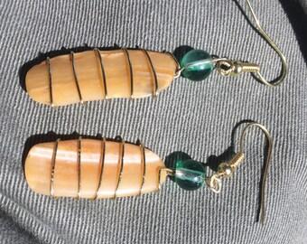 Handmade Atlantic Clam Shell Earrings