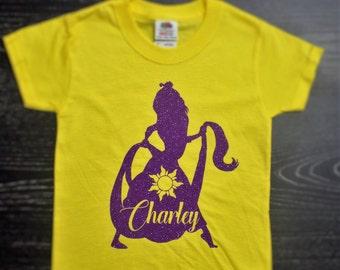 Disney Inspired Princess Rapunzel Tangled Shirt for Women & Girls / Personalized Disney Shirt / Tangled Shirt / Disney  Rapunzel Shirt