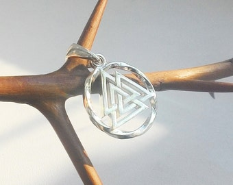 Valknut pendant.Norse.Asatru.Nordic jewelry.Valknut necklace.Viking jewelry.Valknut.Viking pendant.Norse jewelry.Vikings.Valknut symbol.