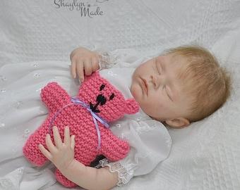 Pink Knitted Teddy Bear 15cm