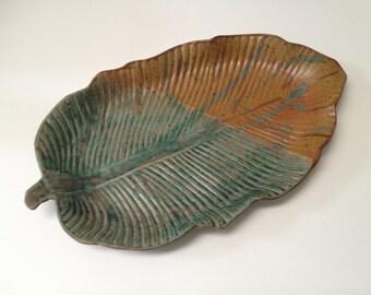 Stoneware Leaf