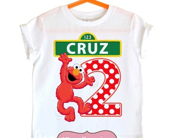 Elmo shirt - Sesame street shirt - Elmo birthday shirt
