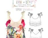 DIGITAL Sophia lingerie Sewing Pattern - PDF instant download E4001 from Evie la Luve