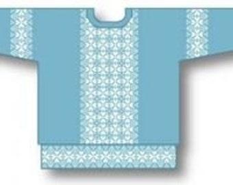 Clover Sideways Sweater Machine Knitting Pattern. Download version