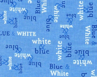 Moda - 1 yd - Deb Strain - Blue & White - Spa