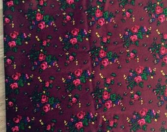 FOLK floral fabric. tiny flowers ,polish style.