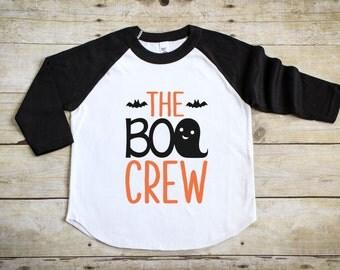 Kid's Halloween Shirt - Trick of Treat Shirt - Boo Crew Shirt - Girl's Halloween Tee - Boy's Halloween Shirt - Halloween Raglan Outfit