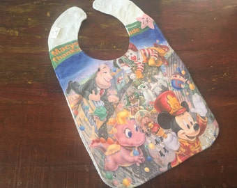 Macy's Thanksgiving Day Parade Upcycled Recycled T-Shirt Bib with Terry Cloth Back - OOAK
