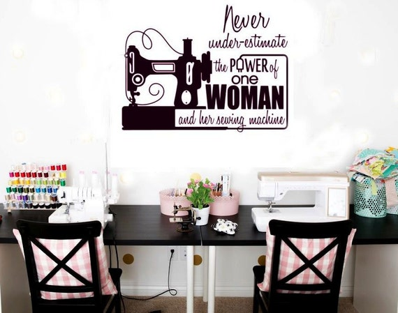 Easy Apply Sewing Machine Vinyl Decal Decor For Wall Tablet