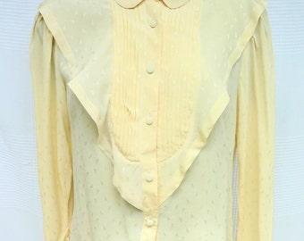 100% silk Emmanuelle Khan Vintage ecru blouse size 38 (M)