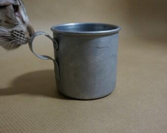 SALE Vintage soviet military mug old army camping mug Home Kitchen Decor Military Decor made in USSR soviet military mug