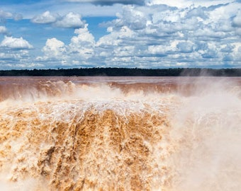 Brazil, Iguazu Falls, waterfall, ladscape photography, Brazil photography, large wall art print, professional photo, fine art #033