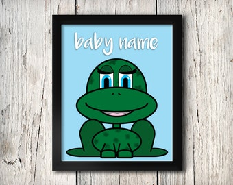 Customizable Nursery Frog Picture