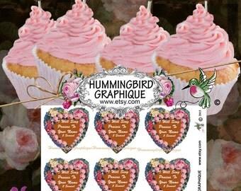 Bible Verse Printable Cupcake Topper I Will SING PRAISES To Your Name Bible Wedding Favor Gift Tag Bible Magnet Bible Journal 900ctNo34
