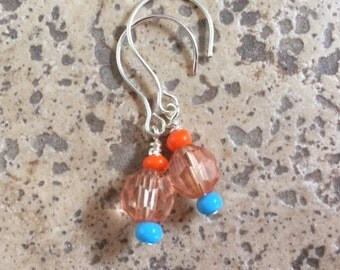 Orange & Turquoise Earrings