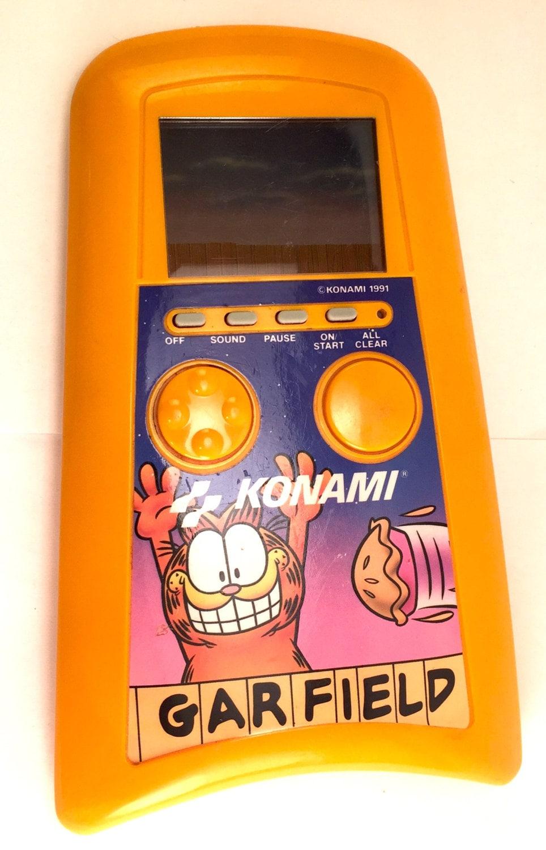 Video Game Girl Stock Image Image Of Latina Isolated: Garfield Konami LCD Hand Held Video Game 1991