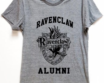 """FOR WIZARDS shirt """"Ravenclaw Alumni"""" for potter hogwarts voldemort fans comfortable affordable artsy tee for birthday gift christmas"""